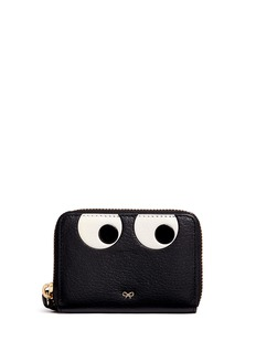Anya Hindmarch 'Eyes' small leather zip wallet
