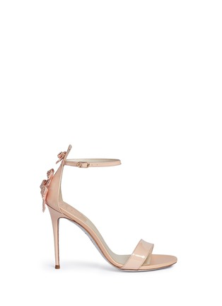 Main View - Click To Enlarge - René Caovilla - Strass bow patent leather sandals