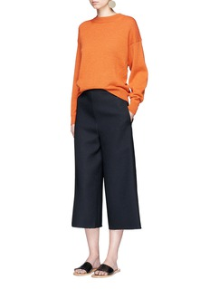 Tibi Frayed cuff crepe sable culottes