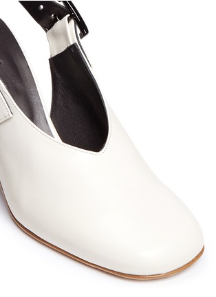 Detail View - Click To Enlarge - Tibi - 'Jillian' buckled leather slingback choked-up pumps