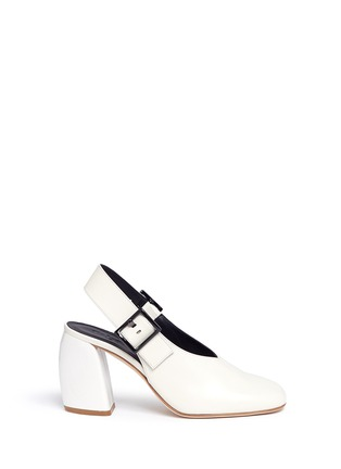 Main View - Click To Enlarge - Tibi - 'Jillian' buckled leather slingback choked-up pumps