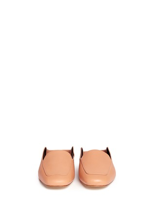 Front View - Click To Enlarge - Tibi - 'Cecil' leather loafer slides