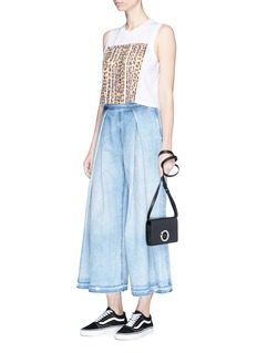 Tortoise 'Coryne' pleated denim culottes