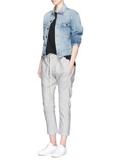 bassikeElastic waist twill pants