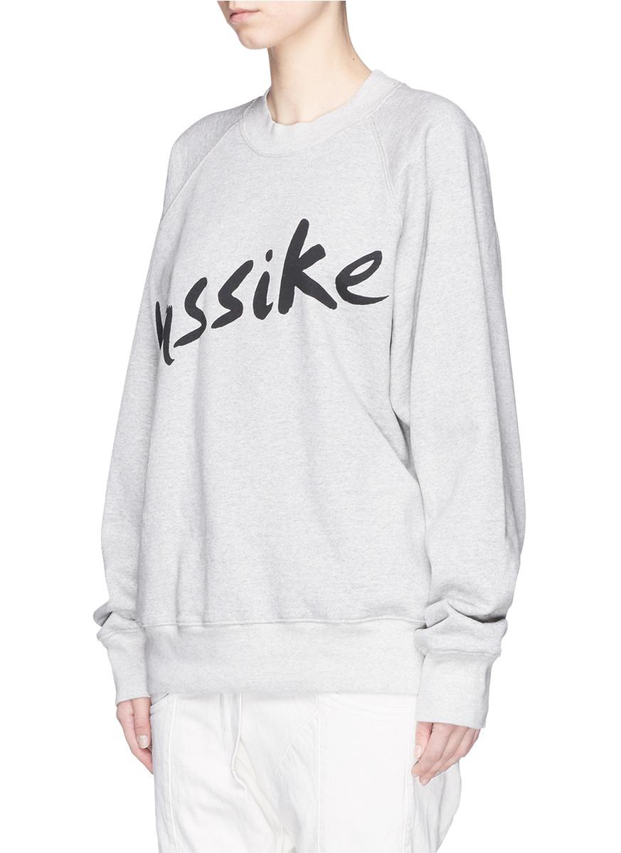 BASSIKE Logo Print Cotton Blend Sweatshirt