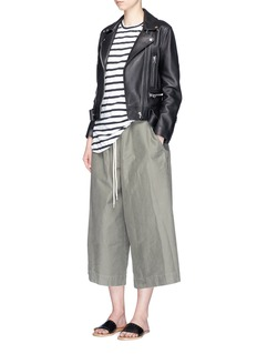 bassike 'Utility' cotton culottes