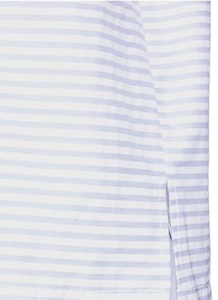 Detail View - Click To Enlarge - bassike - Rib cuff stripe poplin top
