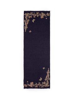 Janavi 'Floret' beaded floral embroidery cashmere scarf