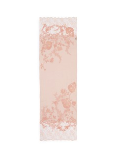 Janavi'Jaal' embroidered floral lace cashmere scarf
