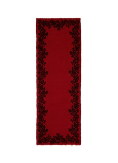 Janavi'Esoteric Allure' floral embroidery cashmere scarf