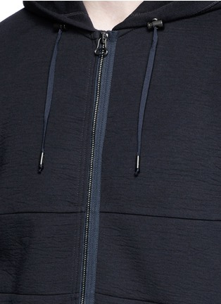 Detail View - Click To Enlarge - Lanvin - Technical jersey zip hoodie