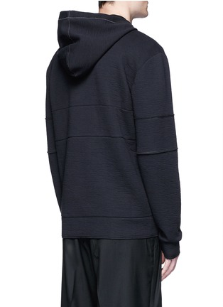 Back View - Click To Enlarge - Lanvin - Technical jersey zip hoodie