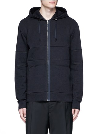 Main View - Click To Enlarge - Lanvin - Technical jersey zip hoodie