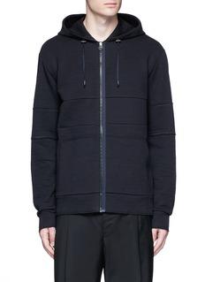 LanvinTechnical jersey zip hoodie