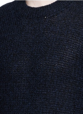 Detail View - Click To Enlarge - Lanvin - Open mouliné stitch cashmere sweater