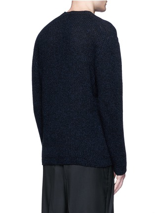Back View - Click To Enlarge - Lanvin - Open mouliné stitch cashmere sweater
