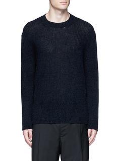 LanvinOpen mouliné stitch cashmere sweater