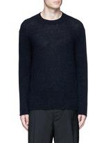 Open mouliné stitch cashmere sweater