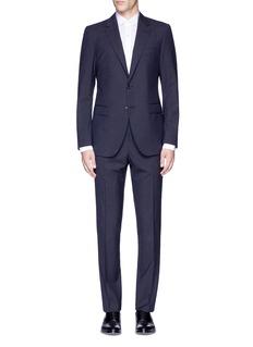 Lanvin'Attitude' woven stripe wool suit