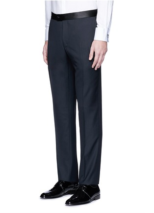 Detail View - Click To Enlarge - Lanvin - 'Attitude' satin trim wool tuxedo suit