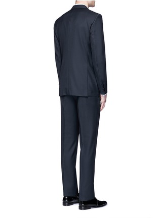 Back View - Click To Enlarge - Lanvin - 'Attitude' satin trim wool tuxedo suit