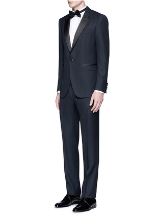Figure View - Click To Enlarge - Lanvin - 'Attitude' satin trim wool tuxedo suit