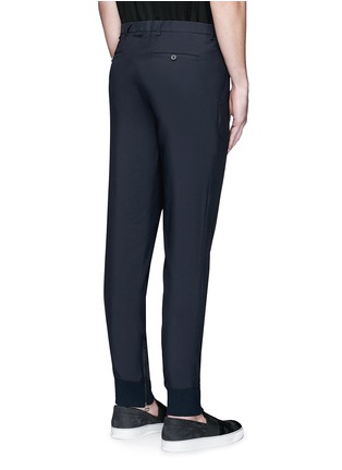 Back View - Click To Enlarge - Lanvin - Zip rib cuff jogging pants
