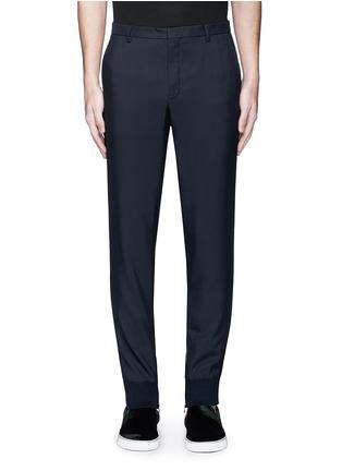 Main View - Click To Enlarge - Lanvin - Zip rib cuff jogging pants