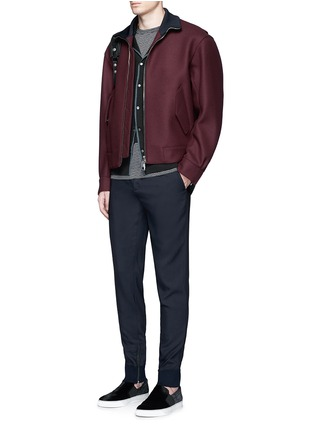 Figure View - Click To Enlarge - Lanvin - Zip rib cuff jogging pants