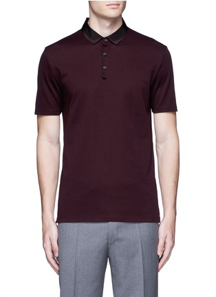 Lanvin - Slim fit grosgrain collar polo shirt