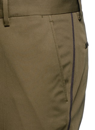 Detail View - Click To Enlarge - Lanvin - Slim fit ribbon stripe chinos