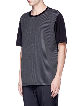 Front View - Click To Enlarge - Lanvin - Speckled stripe front T-shirt