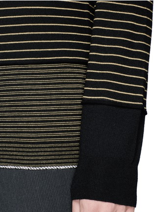 Detail View - Click To Enlarge - Lanvin - Stripe Merino wool sweater