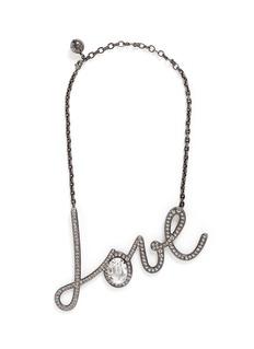 LANVIN'Love' glass crystal pendant necklace