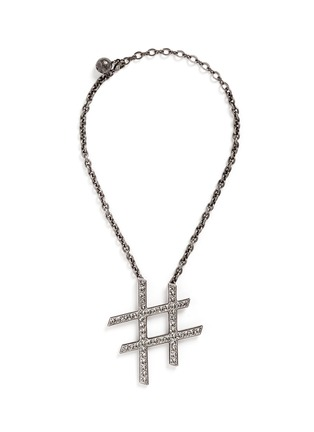 Lanvin - 'Hashtag' glass crystal pendant necklace