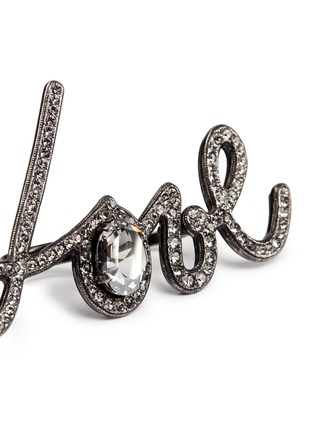 Detail View - Click To Enlarge - Lanvin - 'Love' glass crystal two finger ring