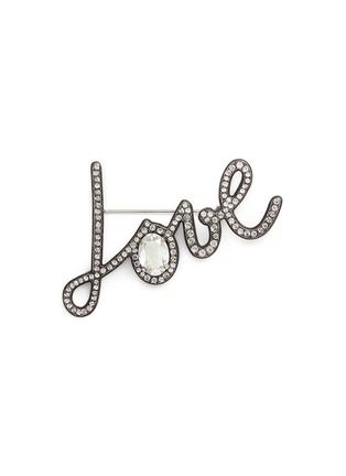 Main View - Click To Enlarge - Lanvin - 'Love' crystal pin brooch