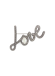 Lanvin 'Love' crystal pin brooch