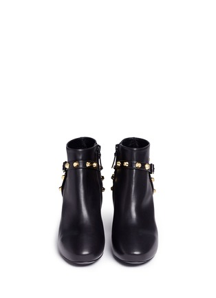 Front View - Click To Enlarge - Balenciaga - 'Classic' stud harness leather ankle boots