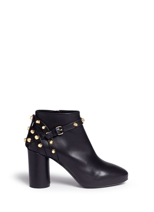 Main View - Click To Enlarge - Balenciaga - 'Classic' stud harness leather ankle boots