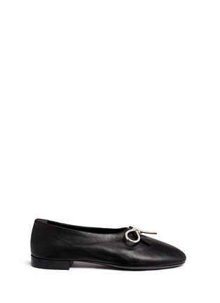 Main View - Click To Enlarge - Balenciaga - Metal bow nappa leather ballerina flats