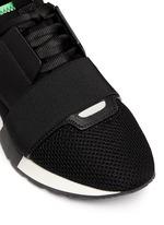 'Race Runners' leather combo neoprene sneakers