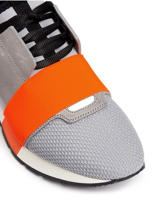 Detail View - Click To Enlarge - Balenciaga - 'Race Runners' leather combo neoprene sneakers