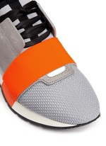 'Race Runners' leather combo neoprene sneakers