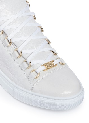 Detail View - Click To Enlarge - Balenciaga - 'Arena' creased lambskin leather sneakers