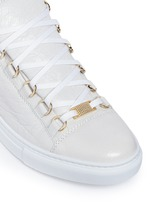 'Arena' creased lambskin leather sneakers