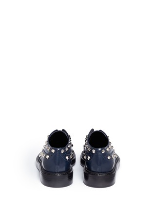 Back View - Click To Enlarge - Balenciaga - Stud leather laceless brogues