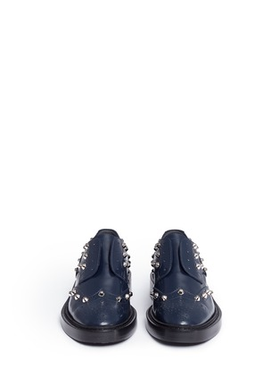 Front View - Click To Enlarge - Balenciaga - Stud leather laceless brogues