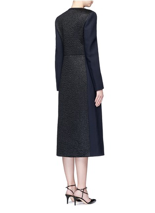 Back View - Click To Enlarge - Roksanda - 'Evanton' curly fur panel wool blend frock coat