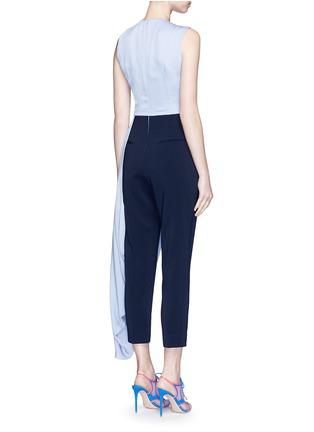 Back View - Click To Enlarge - Roksanda - 'Thurloe' cutout twist front colourblock jumpsuit